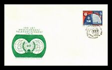 DR JIM STAMPS ITU TELECOMMUNICATION UNION CZECHOSLOVAKIA UNSEALED COVER