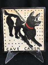 Tuile CAVE CANEM 20x20cm. dans le style ancien. Talavera Tile