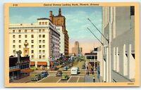 Phoenix Arizona Central Avenue San Carlos Owl Drug Co Linen Vintage Postcard D39