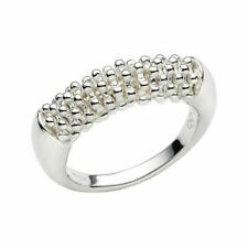 LINKS OF LONDON Ladies Effervescence Sterling Silver Star Ring M NEW RRP100