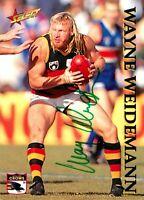 ✺Signed✺ 1995 ADELAIDE CROWS AFL Card WAYNE WEIDEMANN