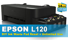 Reset Ink Waste Pad EPSON L120 Unlimited Use - Email Delivery