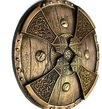 Viking Axe Hatchet Head Shield Bronze Sculpture Scandinavian Folk Art Home Decor