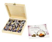 Erblühtee in edler Holzbox, Schwarztee, Erblüh Tee, Schwarztee Geschenkset