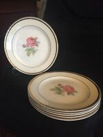 """Set of 6 VINTAGE Homer Laughlin - Calirose -Bread Plate, 6 1/2"""" inches"""