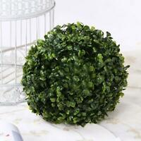 Topiary Balls Artificial Plastic Green Grass Hanging Decor Garden Plant C1V0