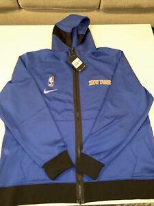 New York Knicks NBA Nike Therma Flex Showtime Hoodie CN4046-495 Size XXL