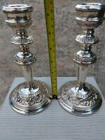 Stunning English Solid Silver Candlesticks Birm 1965 Nice Quality Condition