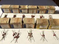 Sortiment 110x NOS SIEMENS KARBOWID Widerstände/resistors assortment KLANGFILM