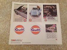 1/18 Pegatinas de TSM Gulf Oil conjunto Modificado Tuning ubmau Garaje Taller Diorama