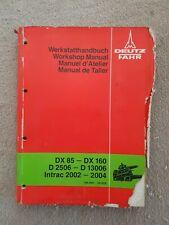 DEUTZ FAHR DX85-160 D2506-13006 INTRAC 2002-04 TRACTOR HYDRAULIC SERVICE MANUAL