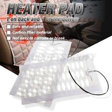 2PCS 12V Car Seat Heater Pad Cushion Carbon Fiber Heating Warm Winter Truck us