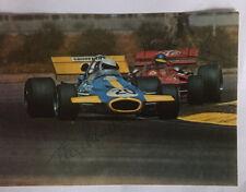 F1 original Autogramm v. Ronnie Peterson und  Tim Schenken