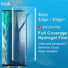 2pcs IMAK Full Cover Clear Front Hydrogel Screen Film For Motorola Edge / Edge +