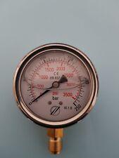 "MANOMETRE/MANOMETER 0- 250 BAR boitier inox NEUF 1/4"" hydraulique"