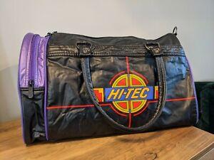 Vintage Hi-Tec Holdall Gym Duffle Bag Retro 80's/90's Black Retro Logo