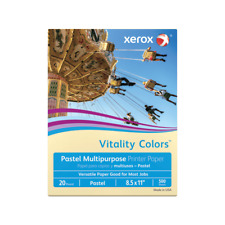 Xerox Vitality Colors Copier Printer Paper, Letter, 20 Lb, Ivory, 500-Sheets