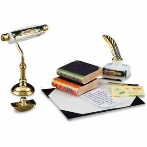 Dollhouse Miniature Reutter Desk Standish Set with Lamp 1.875/6
