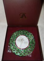 Taylor Avedon collectible Enamel Crystals Photo picture Frame round green new