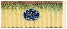 GLASS JAR Brand, Asparagus Tips *AN ORIGINAL 1930's TIN CAN LABEL* B31