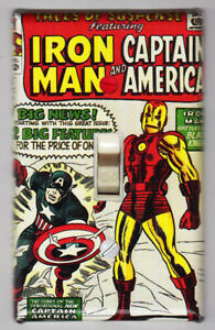 Iron Man Captain America Light Switch Cover Plate Marvel Tales of Suspense 59
