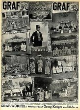 Graf-Suppen-Würfel Alte ganzseitige Foto-Collage-Werbung der Wiener Firma c.1911