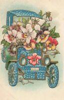 Postcard Flower Car