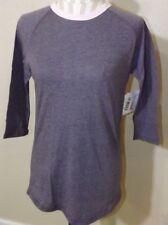 NEW ladies LULAROE purple Randy shirt with pink trim Size XS