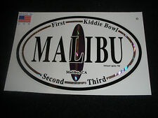 "Malibu Surf Surfing Surfboard Beach Decal Sticker "" Been There.Surfed That"""