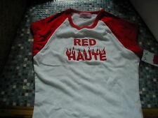RED HAUTE PRIORITIES LADIES T SHIRT LARGE BRAND NEW!!!