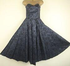 Stunning Vintage Laura Ashley Charcoal Glittery Floral Dress & Bolero Size 10(8)