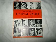 Vintage 1958 Dust Jacketed 1st Edition London's Festival Ballet by Cyril Swinson
