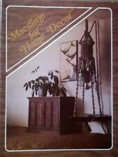 "1976 Vintage ""Craft Pak"" MACRAME Book ~ MACRAME FOR HOME DECOR"