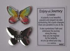 p You are loved ENJOY THE JOURNEY Butterfly Pocket Charm token ganz child friend