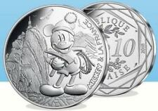 Silver Limited Edition Disney Mickey & La France €10 COIN 05/20 - IN THE UK!