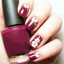Flower Floral Design Nail Art Water Decals Transfers Stickers Manicure Tips