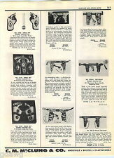 1957 ADVERT Toy Play Cap Gun Holster Sets Halco Smoky Joe Leather Stallion 38