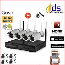 Kit telecamere videosorveglianza ip wifi a 4 canali da esterno DVR infrarossi !