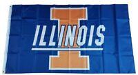 Illinois Fighting Illini  3x5ft NCAA Banner Flag Man Cave Sports 98 Poster Bar