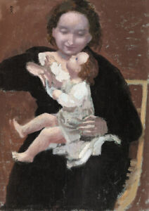 Mother and Child by Maurice Denis. Fine Art Print/Poster