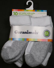 Garanimals Toddler Ankle Socks 10-Pack - White / Gray - Size 18-36 Months - Nwt