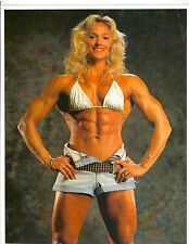 Female Bodybuilder ERIKA ANDERSCH Bodybuilding Muscle Photo Color