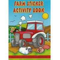 A6 Farm Sticker Activity Book Tractor Puzzles Colouring Pages Pocket Money Party
