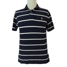 New listing Polo Ralph Lauren shirt men's medium blue white stripe cotton short sleeve rugby
