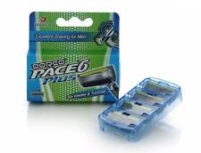 Dorco Pace 6 Plus- Six Blade Razor System with Trimmer , 1 Pack - 4 Cartridges