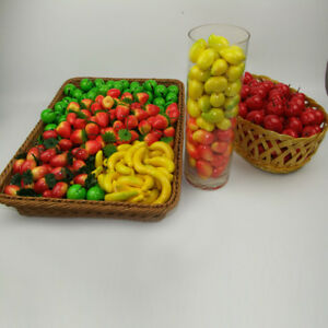 20x Mini Artificial Fake Fruit Plastic Fruits Home House Party Kitchen Decor ^dm