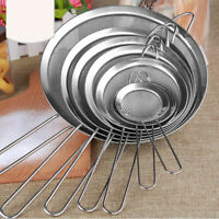 8 Sizes Stainless Steel Wire Fine Mesh Oil Strainer Flour Sifter Sieve Colander