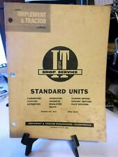 Tractor and Implement I&T  Standard units engineering manual No. SU-4