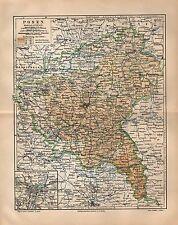 POSEN und Umgebung Brandenburg Schlesien Bromberg LANDKARTE  1908