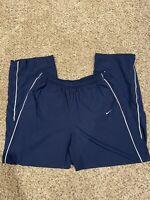Nike Mens Basketball Athletic Workout Warm Up Pants Dark Blue Size XL EUC